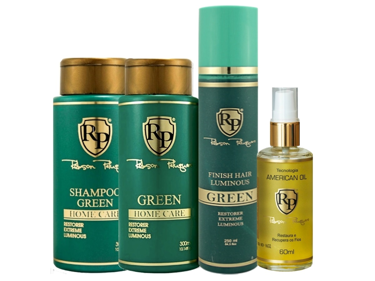 Robson Peluquero - Kit Matizador Green + Finish + Argan