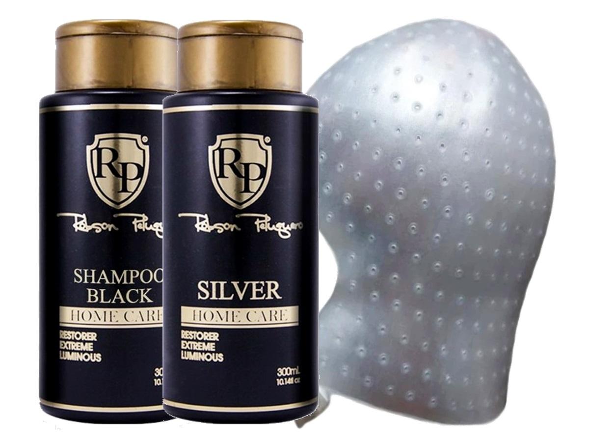 Robson Peluquero - Kit Matizador Silver 2x300ml + Touca