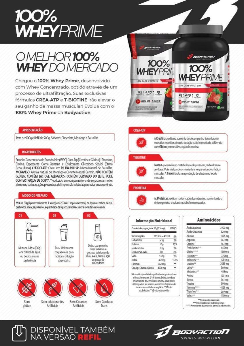 100% WHEY PRIME (900G) - BODY ACTION