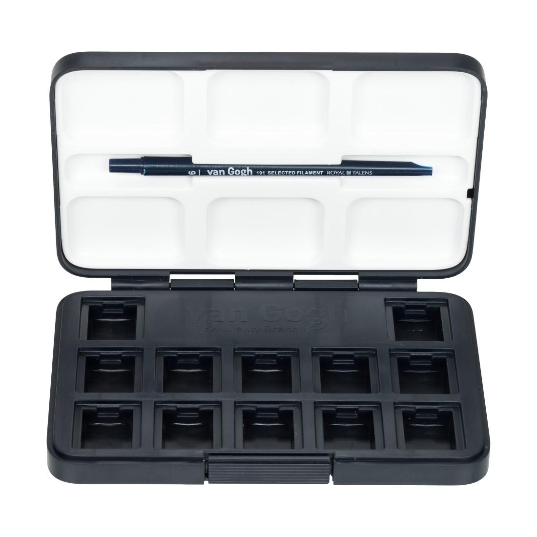 Estojo Vazio para Pastilhas Aquarela com 12 Compartimentos + Pincel 50808644