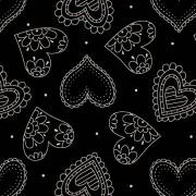 Corações Manequim Preto