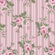 Floral Pássaros Rosa - 50cm x 75cm