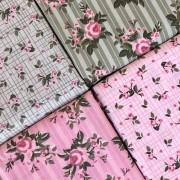Kit Amarradinho Floral Pássaros - 50cm x 150cm