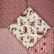 Kit Amarradinho Pássaros e Flores - 50cm x 75cm