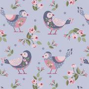 Pássaros fundo lavanda