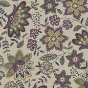 Tecido Floral Lancaster Uva