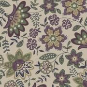 Tecido Floral Lancaster Uva - 50cm x 1,50m