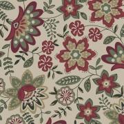 Tecido Floral Lancaster Vinho