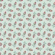 Tecido Mini Rosas Fundo Tiffany
