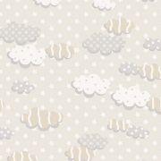 Tecido Nuvens Bêge