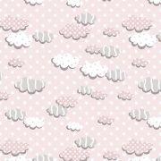 Tecido Nuvens Rosa