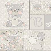 Tecido Painel Ursos e Balões