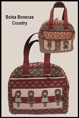 Apostila - Bolsa Bonecas Country  - Tecidos Digitais