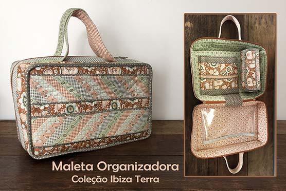 Apostila - Maleta Organizadora - Coleção Ibiza Terra  - Tecidos Digitais