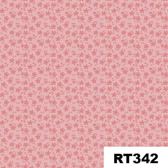 Básico Floral Rosa  - Tecidos Digitais