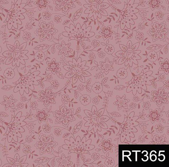 Básico Jardim Delicado Rosa  - Tecidos Digitais