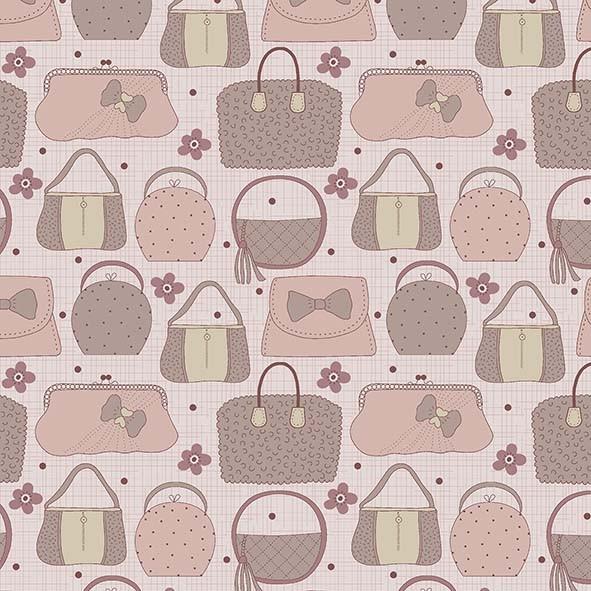 Bolsas Fashion Rosa  - Tecidos Digitais