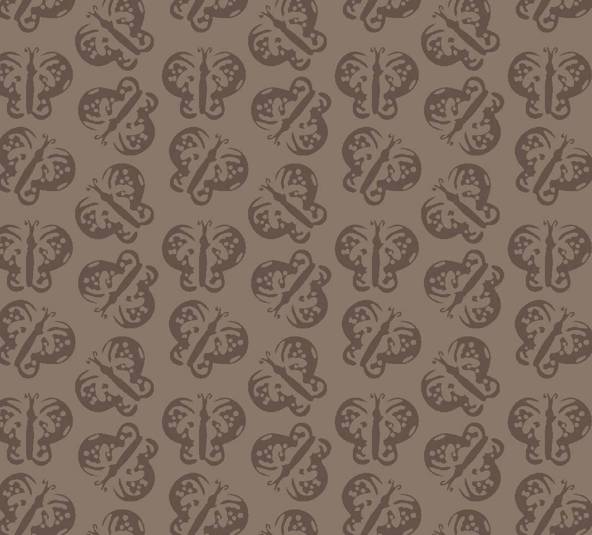 Borboletas Marrom  - Tecidos Digitais