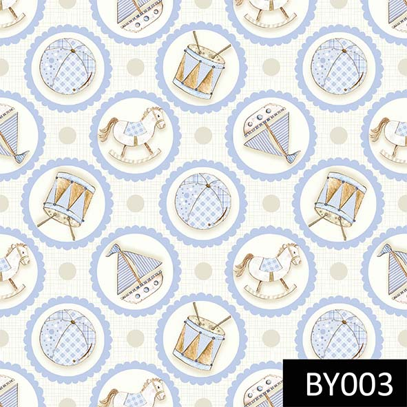 Brinquedos no Camafeu Azul  - Tecidos Digitais