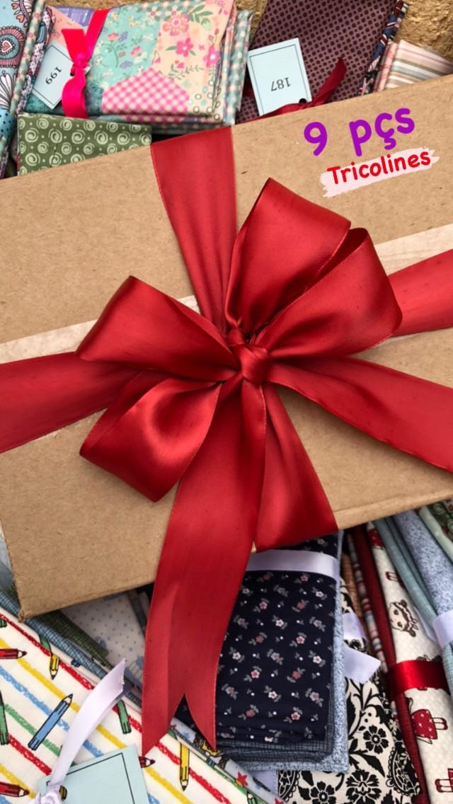 Caixa Surpresinha 9: Kits Amarradinhos - 30cm x 150cm  - Tecidos Digitais