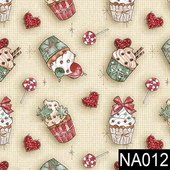 Cupecakes Natal  - Tecidos Digitais