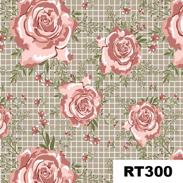 Floral Campestre Bege  - Tecidos Digitais