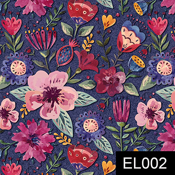 Floral elegance escuro  - Tecidos Digitais