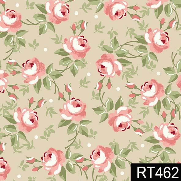 Floral Fadas Creme  - Tecidos Digitais