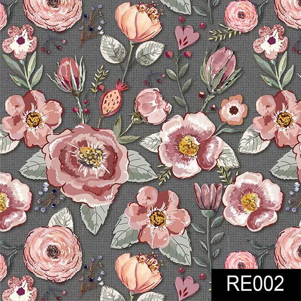 Floral Sweet Escuro  - Tecidos Digitais