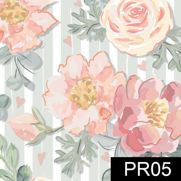 Floral Veneza Menta  - Tecidos Digitais