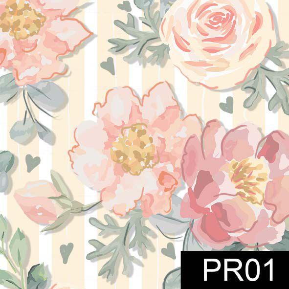 Floral Veneza Rosê  - Tecidos Digitais