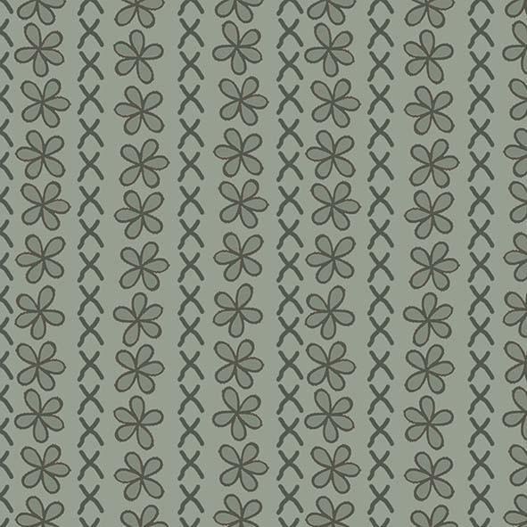Flores Atacama Verde  - Tecidos Digitais