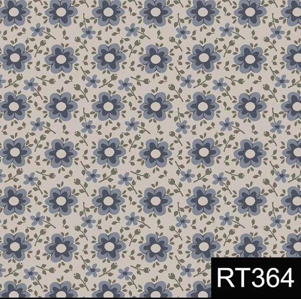 Florido Delicado Azul  - Tecidos Digitais