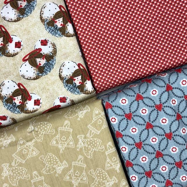 Kit Amarradinho Angels Vermelho - 50cm x 150cm  - Tecidos Digitais