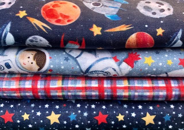 Kit Amarradinho Astronautas - 50cm x 150cm  - Tecidos Digitais