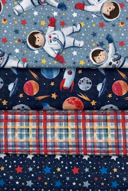 Kit Amarradinho Astronautas - 50cm x 75cm  - Tecidos Digitais