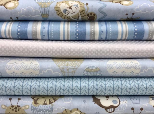 Kit Amarradinho Baby Azul - 50cm x 150cm  - Tecidos Digitais