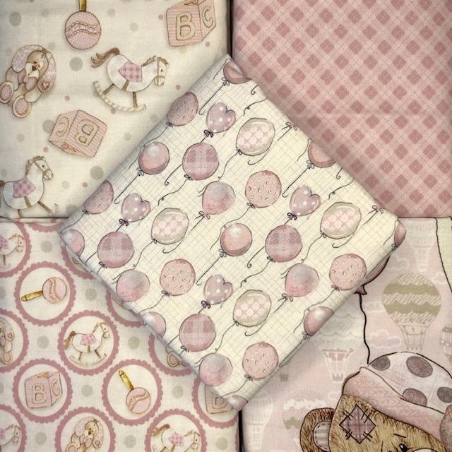 Kit Amarradinho Baby Digital Girl - 50cm x 150cm  - Tecidos Digitais
