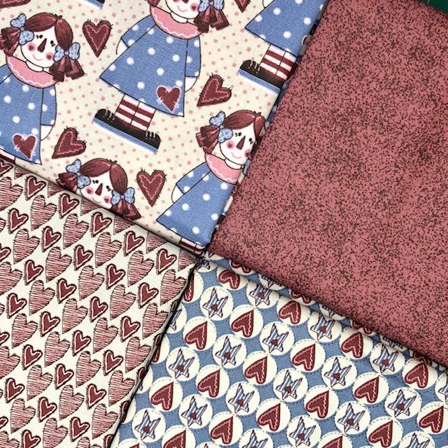 Kit Amarradinho Bonecas de Pano 2 - 50cm x 150cm  - Tecidos Digitais