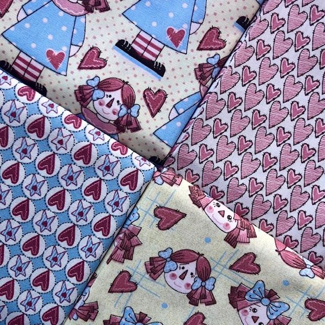 Kit Amarradinho Bonecas de Pano - 50cm x 150cm  - Tecidos Digitais