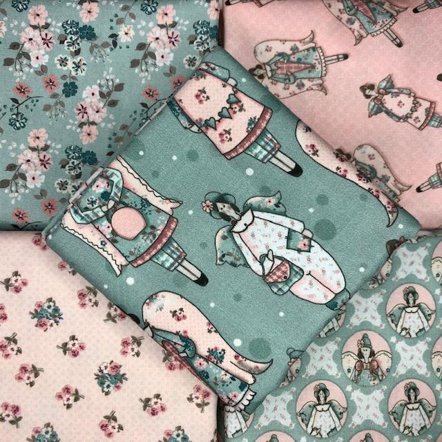 Kit Bonecas Retrô - 50cm x 150cm  - Tecidos Digitais