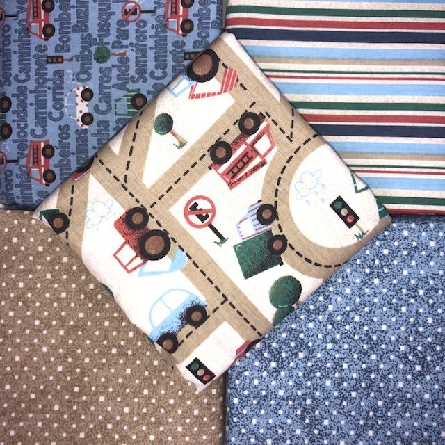 Kit Amarradinho Carrinhos - 50cm x 150cm  - Tecidos Digitais