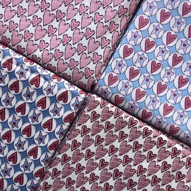 Kit Amarradinho Corações - 50cm x 150cm  - Tecidos Digitais
