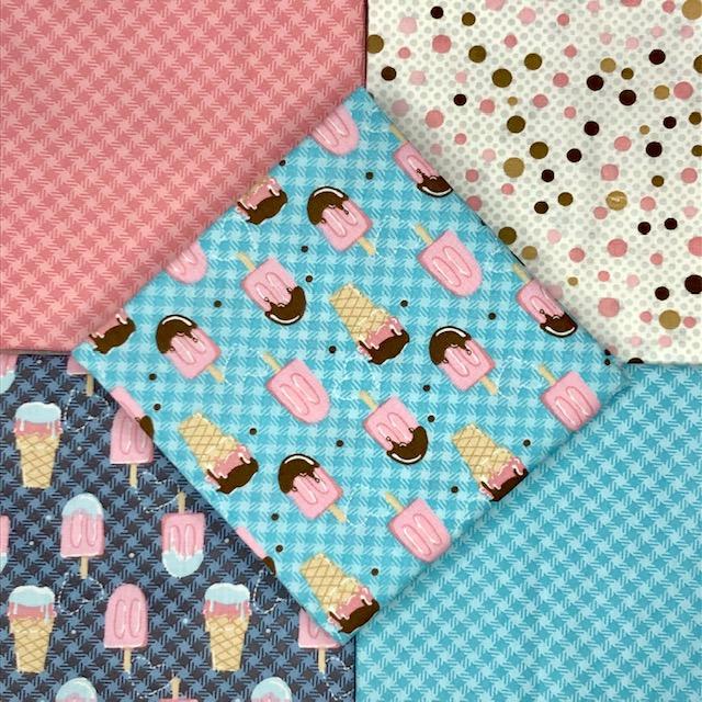 Kit Amarradinho Cupcakes 2 - 50cm x 75cm  - Tecidos Digitais
