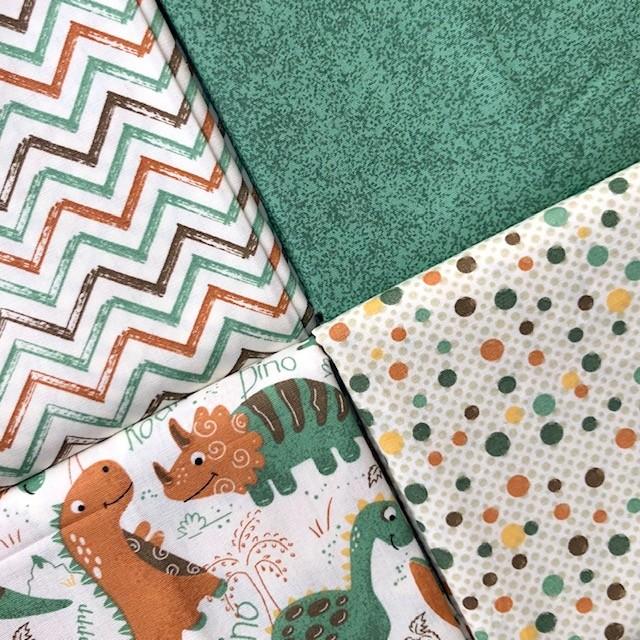 Kit Amarradinho Dinos Terra - 50cm x 150cm  - Tecidos Digitais