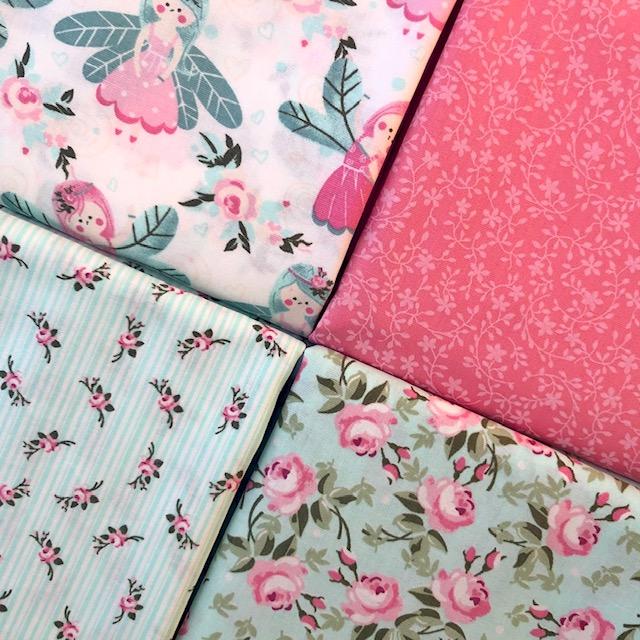 Kit Amarradinho Fadas Rosa - 50cm x 150cm  - Tecidos Digitais