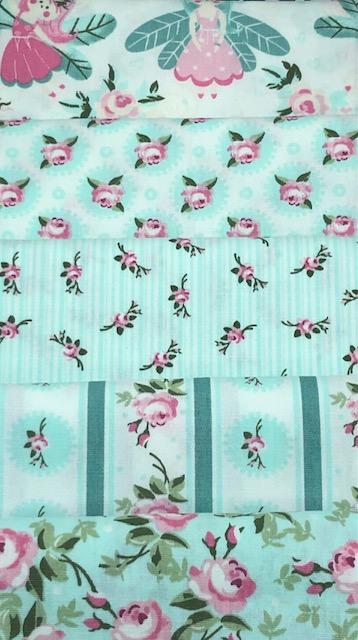 Kit Amarradinho Fadinhas Azul - 50cm x 75cm  - Tecidos Digitais