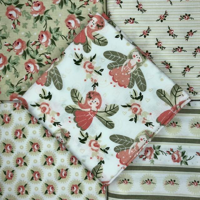 Kit Amarradinho Fadinhas Bege - 50cm x 75cm  - Tecidos Digitais