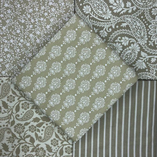 Kit Amarradinho Finesse Bege - 50cm x 75cm  - Tecidos Digitais