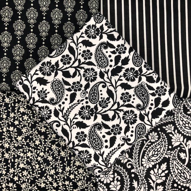 Kit Amarradinho Finesse Preto - 50cm x 150cm  - Tecidos Digitais